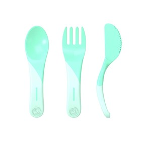 Набор детских приборов Twistshake Learn Cutlery, цвет пастельный зелёный, от 6 месяцев