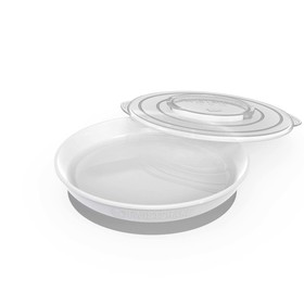 Тарелка детская Twistshake Plate, цвет белый, от 6 месяцев