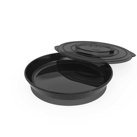 Тарелка детская Twistshake Plate, цвет чёрный, от 6 месяцев