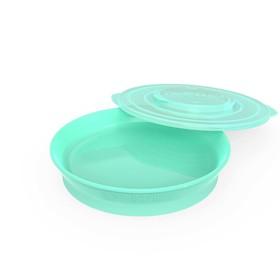 Тарелка детская Twistshake Plate, цвет пастельный зелёный, от 6 месяцев
