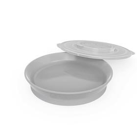 Тарелка детская Twistshake Plate, цвет пастельный серый, от 6 месяцев