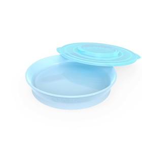 Тарелка детская Twistshake Plate, цвет пастельный синий, от 6 месяцев