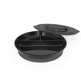 Тарелка детская с разделителями Twistshake Divided Plate, цвет чёрный, от 6 месяцев