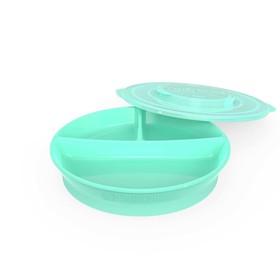 Тарелка детская с разделителями Twistshake Divided Plate, цвет пастельный зелёный, от 6 месяцев