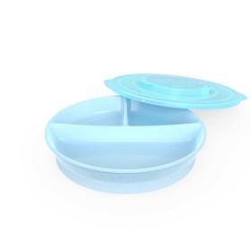 Тарелка детская с разделителями Twistshake Divided Plate, цвет пастельный синий, от 6 месяцев