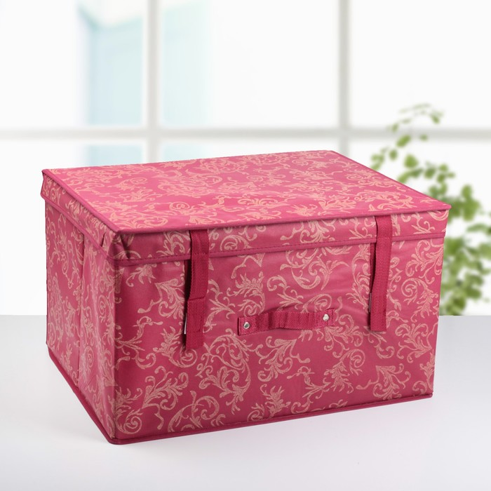 """Короб для хранения с крышкой 50х40х30 см """"Бордо"""""""