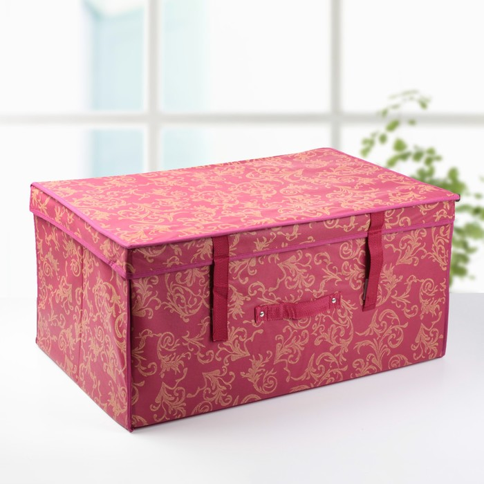 """Короб для хранения с крышкой 60х40х30 см """"Бордо"""""""