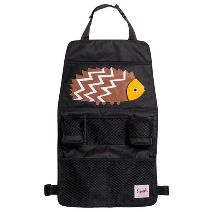 Органайзер на спинку сиденья 3 Sprouts «Ёжик», цвет коричневый