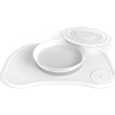 Коврик для кормления Twistshake Click Mat, с тарелкой, цвет белый, 6+ мес