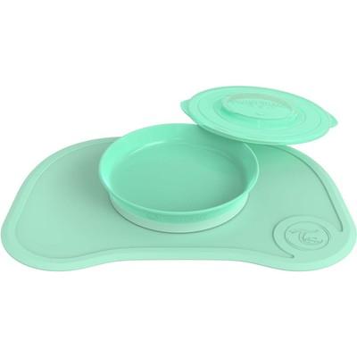 Коврик для кормления Twistshake Click Mat, с тарелкой, цвет пастельный зелёный, 6+ мес