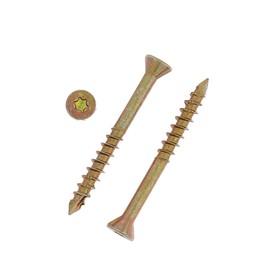 Саморез отделочный INFIX, 3.5х35 мм, потайной, Torx10, жёлтый цинк Ош