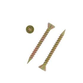 Саморез отделочный полнорезьбовой INFIX, 3.5х35 мм, потайной, Torx10, жёлтый цинк Ош