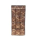 Органайзер с карманами подвесной «Вензель», 40×90 см, 12 отделений, цвет коричнево-бежевый - фото 308332241