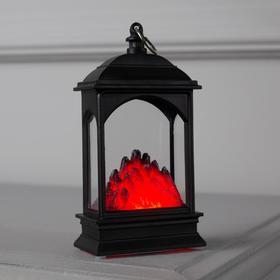 """Фигура световая """"Камин """" эффект горящего огня, 13х7х4 см, от бат. 2032 (в комплекте)"""