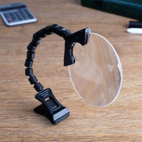 Magnifier 2.5 x, 5x, on a flexible stem, with a pin, 33cm