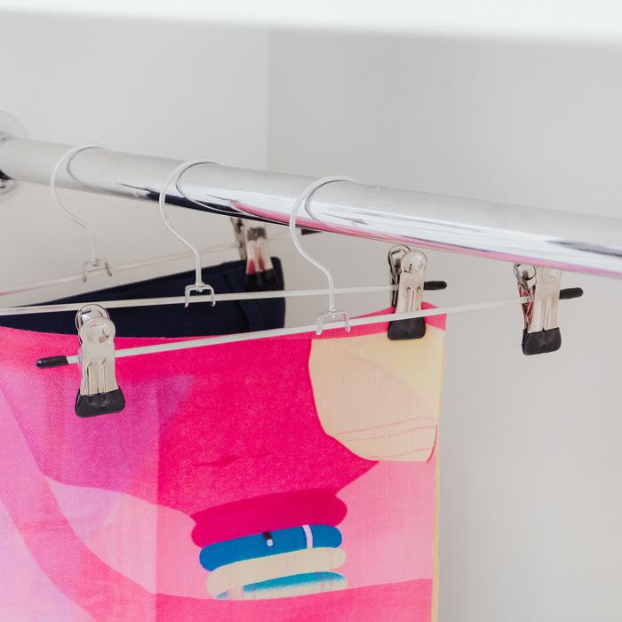 Вешалка для брюк и юбок с зажимами