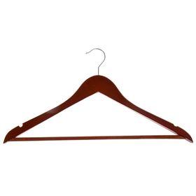 Вешалка-плечики для одежды с перекладиной, размер 46-50, дерево, цвет вишня