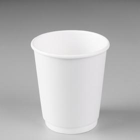 """Стакан """"Белый"""", для горячих напитков двухслойный, 250 мл, диаметр 80 мм"""