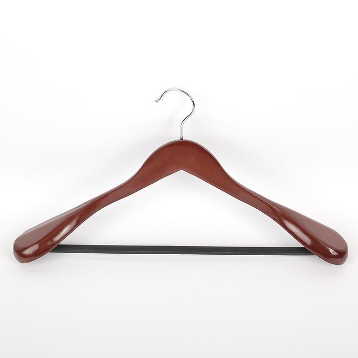 Вешалка-плечики с перекладиной для верхней одежды, размер 48-50, цвет вишневый