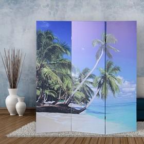 """Ширма """"Пальмы на пляже"""", 160 × 150 см"""