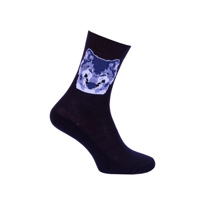 Men's socks with Terry following, color dark blue, size 25