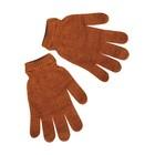 Women's gloves, color light brown, R-R 18