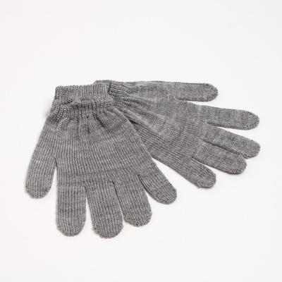 Women's gloves, color light gray, R-R 18