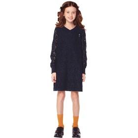 Платье для девочек, рост 164 см, цвет синий