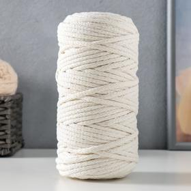 Cord for knitting 100% cotton width 5mm 100m (milk)