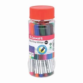 Набор ручек капиллярных 20цв Luxor Mini Fine Writer 045 0,8 мм, пласт.банка 7120M/20J