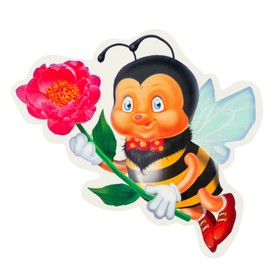 Украшение на скотче 'Пчёлка' с цветочком Ош