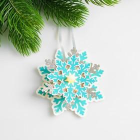 Набор для создания новогодней подвески со светом «Снежинка»