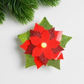 Набор для создания новогодней подвески со светом «Цветок»