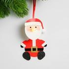 Набор для создания новогодней подвески со светом «Дед мороз» - фото 98601