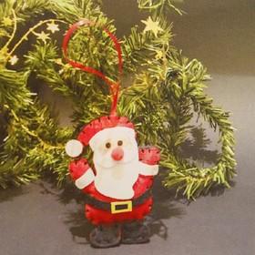 Набор для создания подвесной ёлочной игрушки из фетра «Весёлый Дед Мороз»