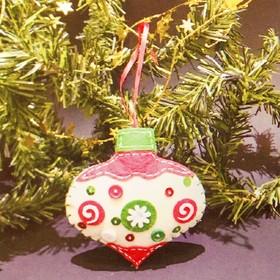 Набор для создания подвесной ёлочной игрушки из фетра «Прелесть»