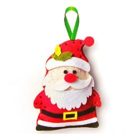 Набор для создания подвесной ёлочной игрушки из фетра «Дед Мороз - красный нос»