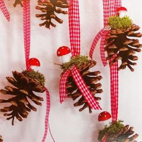 Набор для создания подвесной ёлочной игрушки из шишек «Прелесть»