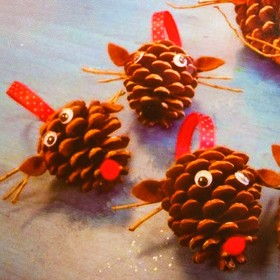 """Set to create hanging Christmas decorations from cones of """"Sviatki"""""""