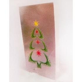 Набор для создания новогодней поздравительной открытки - изонить «Ёлочка»