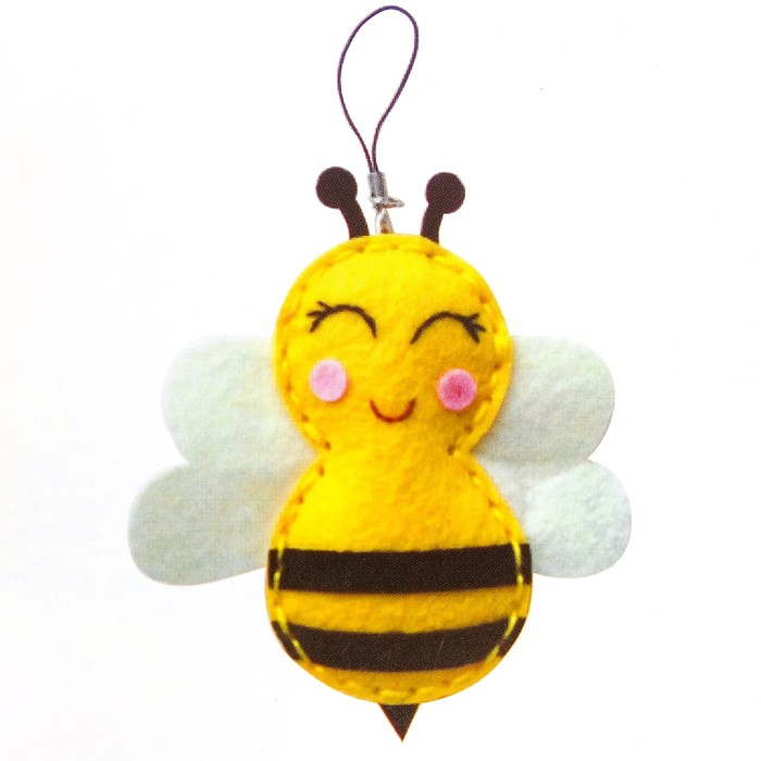 Набор для создания подвески из фетра «Пчёлка» - фото 691488