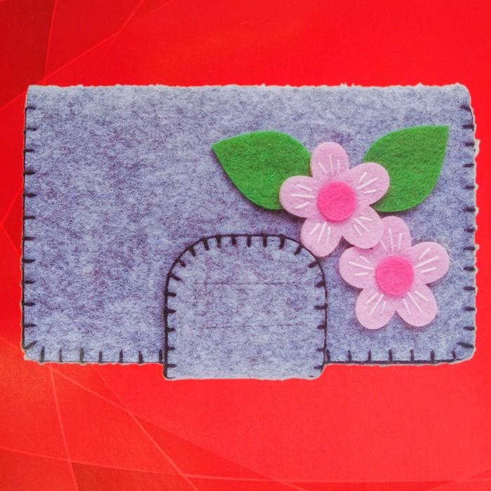 Набор для создания кошелька из фетра «Милые цветочки» - фото 691496