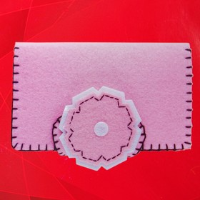 "Set to create a wallet out of felt ""Tenderness"""