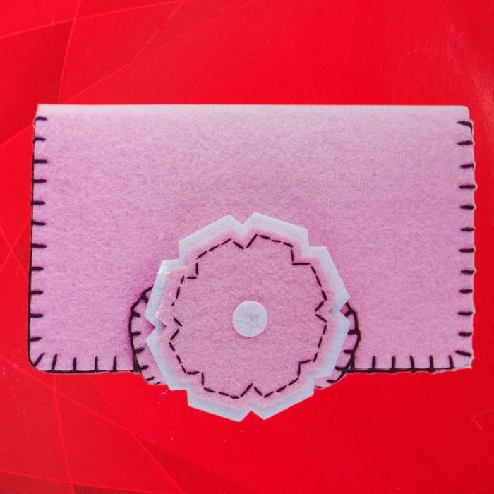 Набор для создания кошелька из фетра «Нежность» - фото 691645