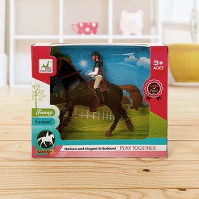 Gaming horse with a doll, with accessories