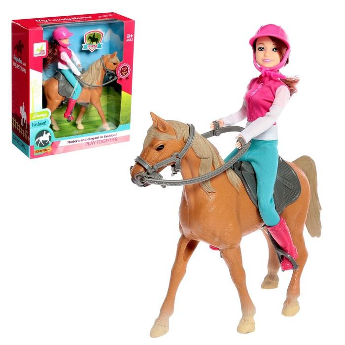 Набор игровой лошадка с куклой шарнирной, с аксессуарами