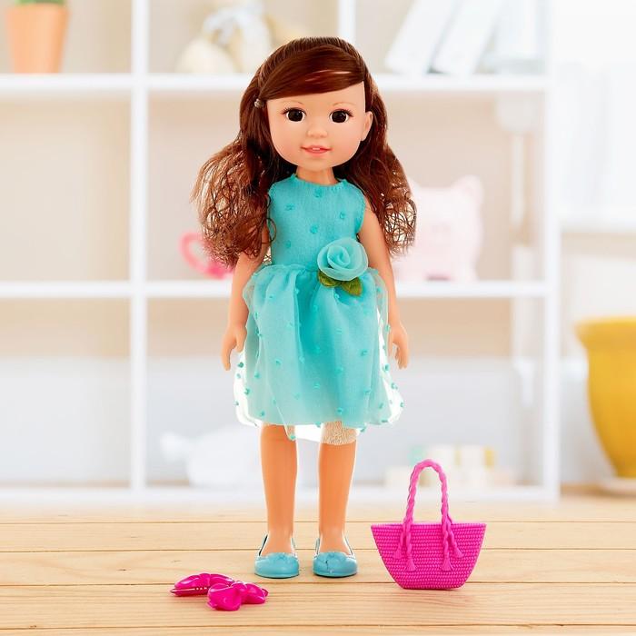 Кукла классическая «Аня» в платье, с аксессуарами, МИКС