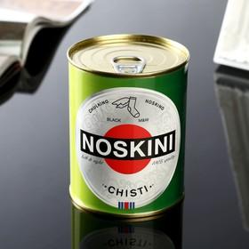 """Носки в банке """"Noskini Chisti""""  (мужские, цвет черный)"""