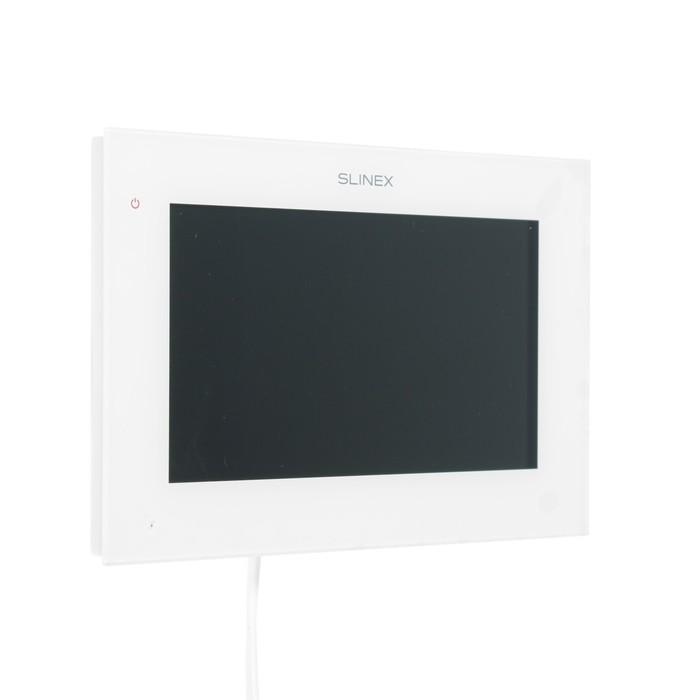 "Видеодомофон SLINEX SQ-07MTHD, 7"" цв. 16:9, 1024х600, часы, microSD, детектор движ, белый"