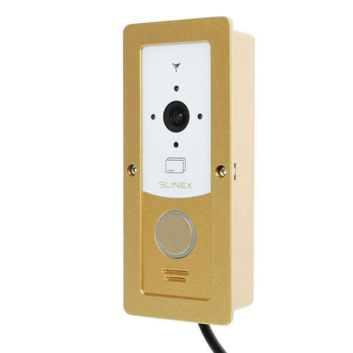 Вызывная панель видеодомофона SLINEX ML-20CR, наружная, 100 град, 960 ТВЛ, ИК, бело-золотая
